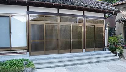 木製玄関をアルミ製にリフォーム