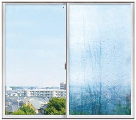 右:高断熱ガラス「スペーシア」と左:一枚ガラス製品の同条件比較イメージ