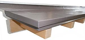 ガルバリウム屋根-模様型押し
